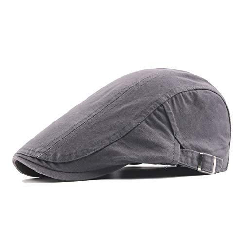 Cotton Adjustable Cabbie Hats for Men Irish Tweed Flat Cap Lasaa Men Newsboy Cap Ivy Hat