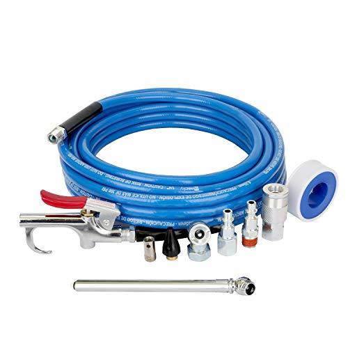 - WYNNsky 1/4 Inch × 25FT PVC Air Hose with 9 Pieces Air Compressor Accessories, Air Blow Gun, 1/4 Inch NPT Air Fittings, Ball Air Chuck and Tire Gauge