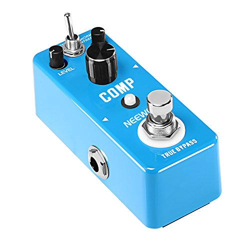 Neewer Mini Compressor Pedal Ultimate Comp Guitar Effect Pedal, Aluminum Alloy Optical Compressor with 1/4-inch Mono Audio Jack Normal, Treble Compression Modes for Guitarists Play on Stage by Neewer