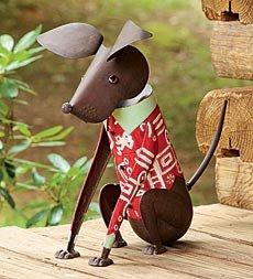 Ralphie The Dog Metal Garden Statue