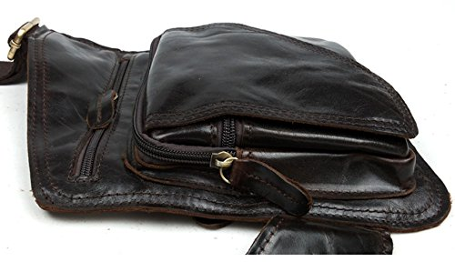 Insum Leather Dark Brown Coffee Mens Shoulder Retro Bag frPwfq