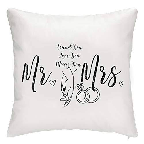 Senseware Mr & Mrs Decorative Soft Throw Pillow