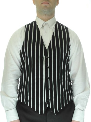 SixStarUniforms Striped Dress Vest for Men,