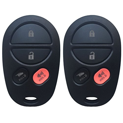 2 KeylessOption Replacement Keyless Entry Remote Control Key Fob Transmitter Compatible With GQ43VT20T