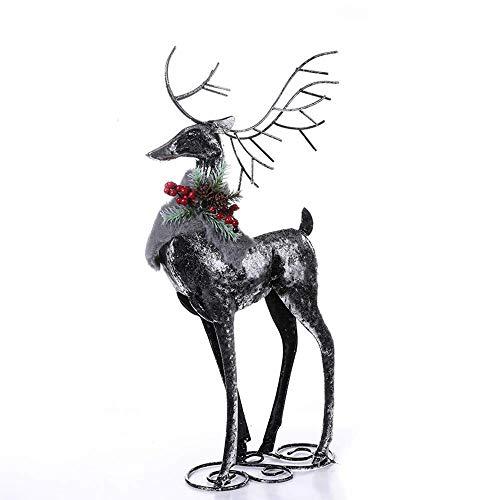 Jumedy Decoraciones navideñas, artesanías de Hierro Forjado Creativas, Adornos de Alce de Metal