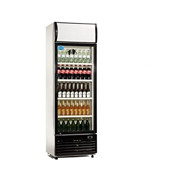 Getränkekühlschrank 300 L Flaschenkühlschrank abschließbar: Amazon ...