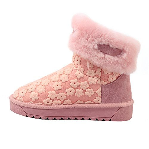 nieve Mujer YE Rosa de botas vqBEHB