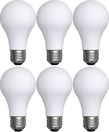 GE Lighting 91076 General Purpose Classic Shape A19 Daylight LED 8 (60-Watt Replacement), 760-Lumen Medium Base, 6-Pack, Frosted Piece (General Electric Led Light Bulbs)