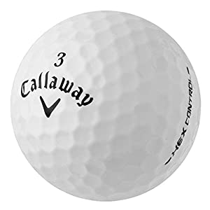 PearlGolf 50 Callaway Hex Control - AAA - weiß - Lakeballs - gebrauchte...
