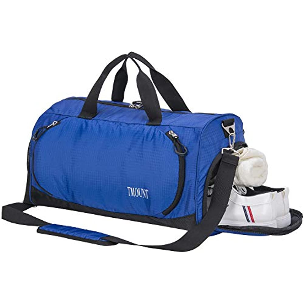 2f3ff523cd Details about Sports Duffels Gym Duffle Bag Travel With Shoe Compartment  And Wet Pocket For
