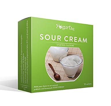Cultura para preparar la crema agria/producto lácteo/en casa - 10 bolsitas: Amazon.es: Alimentación y bebidas