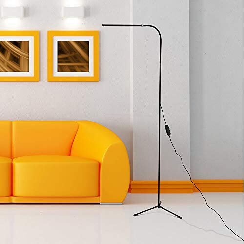 3 in 1 Dimmable LED Standing Floor Lamp, Gooseneck Floor Desk Standing Lamp, Height and Angle Adjustable Flexible Floor Light for Reading Living Bed Room Office with 1.5M USB LINE [4 Level Adjustment