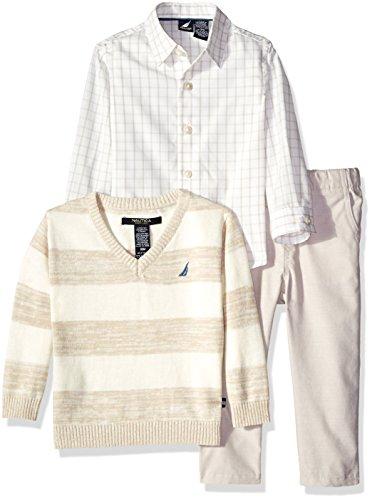 - Nautica Baby 3 Piece Sweater Set, Sail White, 12 Months