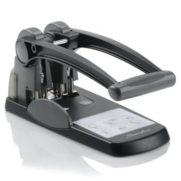 Swingline 74192 Extra High-Capacity Two-Hole Punch, 0.28 in. Holes - Black & Gray