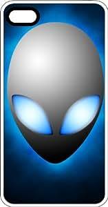 Light Blue Eyed Grey Alien White Plastic Case for Apple iPhone 5c
