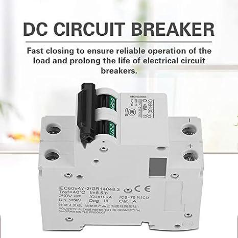 2p c65h dc 250v 25a 40a low voltage dc miniature circuit breaker for