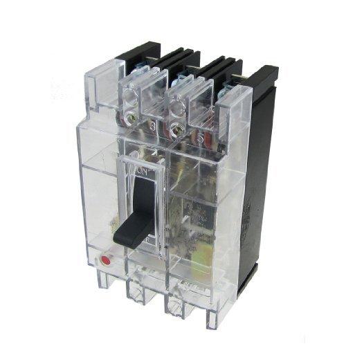 DealMux Transparente AC 380V 40A Amps 3P em caixa moldada Circuit Breaker