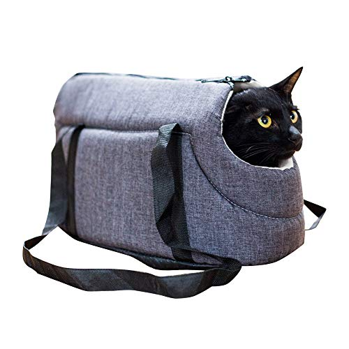 Decdeal Soft Sided Carriers Cat/Dog, Light Pet Carrier Cat/Dog Comfort Travel Bag, 2 Color, 2 Size(S/M)