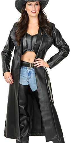 Women Med. (8-10) Pleather Cowboy Duster (Duster Only, other items available from our store (Duster Leather)