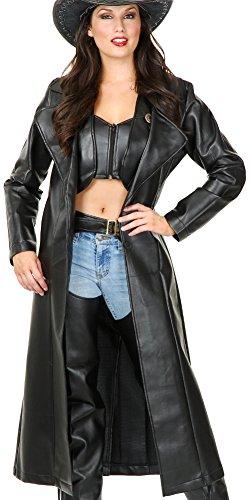 Women's Small 5-7 Black Range Rider Costume Trench Coat