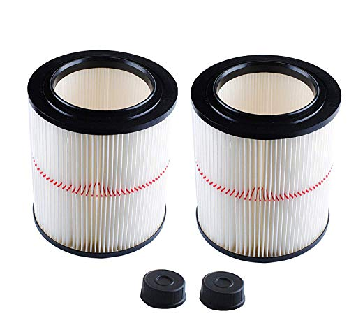 Wadoy 17816 Filter for Craftsman Shop Vac 917816, 9-17816 Wet Dry Vac Filter for 5 Gallon Vacuum Cleaner (2 Pack)