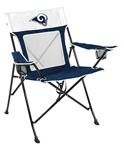 Rawlings NFL Game Changer Large Folding Tailgating and Camping Chair, with Carrying Case, Los Angeles Rams