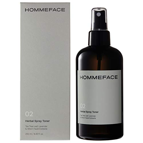 (HOMMEFACE Men's Herbal Spray Facial Toner | Tea Tree Leaf, Lavender & Witch Hazel | Alcohol-Free (8.45 Fl. Oz.))