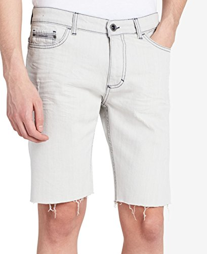 Calvin Klein Jeans Men's Denim Short Contrast, Light Stone Wash, 36W by Calvin Klein