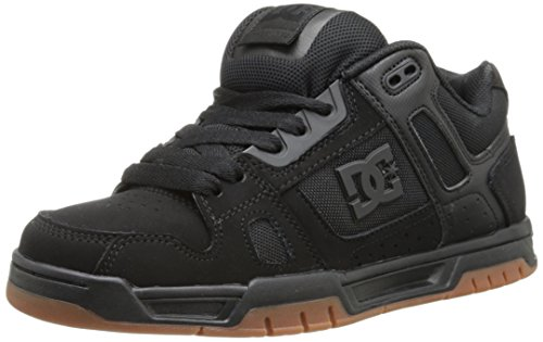 DC Men's STAG Shoe, Black/Gum, 9 D US