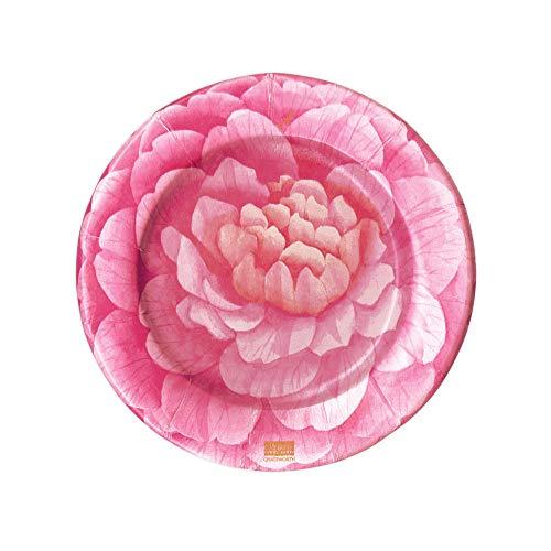 - Caspari Camellias Paper Salad & Dessert Plates, 8 Per Package
