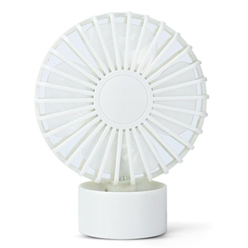 Gillberry Notebook Laptop Computer Portable Super Mute PC USB Cooler Desk Mini Fan NEW (White)