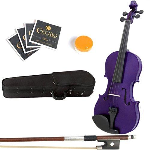 Mendini 16-Inch MA-Purple Solid Wood Viola with