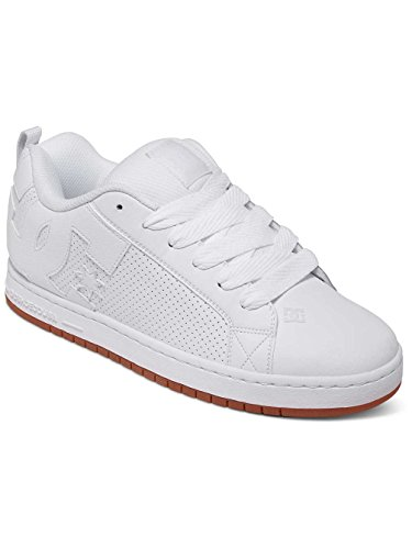 Mens Court Graffik Skate Shoes (DC Shoes Mens Court Graffik White Leather Trainers 11 US)