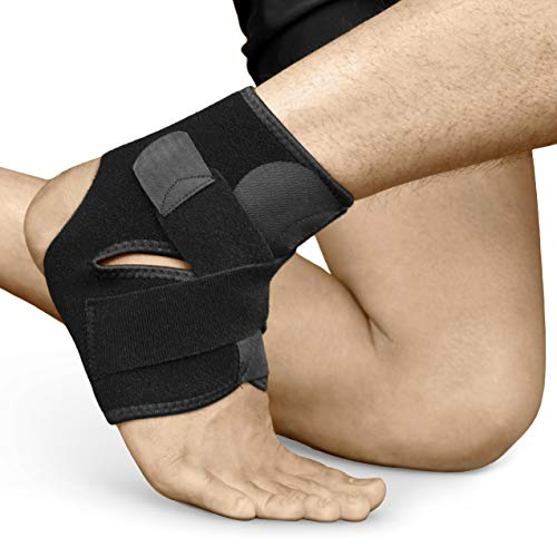 Bracoo Ankle Support, Compression Brace for Arthritis, Pain Relief, Sprains, Sports Injurie and Recovery, Breathable Neoprene Sleeve, FS10, S/M