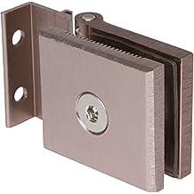 """Mini Hinge for 1/4"""" Glass Shower Doors in Brushed Nickel Finish, Durable commercial & residential, door hardware, door handles, locks"""