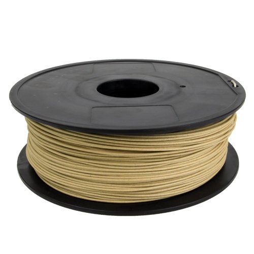 - Gizmo Dorks 3mm (2.85mm) Wood Filament 1kg for 3D Printers, Natural