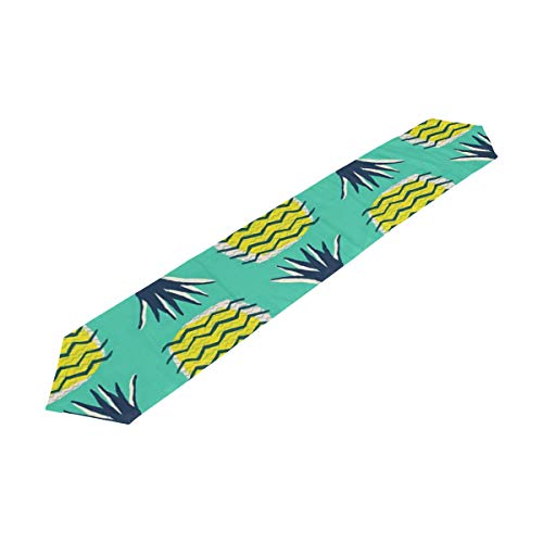 Chu warm Table Runner Tropical Pineapple Pattern Home