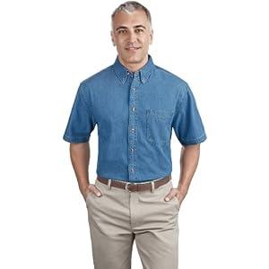 Port & Company Men's Short Sleeve Value Denim Shirt