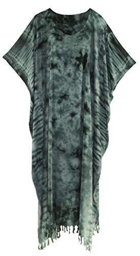 Beautybatik Grey Tie Dye Caftan Kaftan Loungewear Maxi for sale  Delivered anywhere in Canada