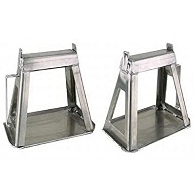 Fixed Height Aluminum Racing Jack Stands, Set of 2