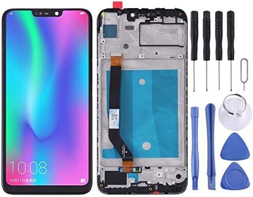 携帯電話の液晶画面 Huawei社の名誉8C(ブラック)のためのフレームとLCDスクリーンとデジタイザのフルアセンブリ (Color : Black)