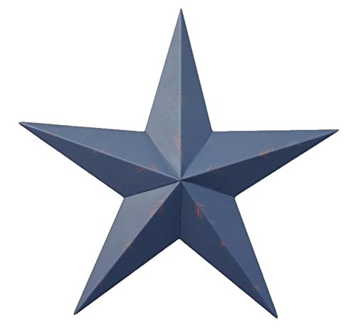 24 Inch Rustic Whale Blue Barn Star Made with Galvanized Metal to Prevent Rusting. Amish Hand Made Your Source for Heavy Duty Metal Tin Barn Stars and Primitive Style Stars for Your Country Crafts and Home and Garden Decor. American Handcrafted - Made in the Usa! ()