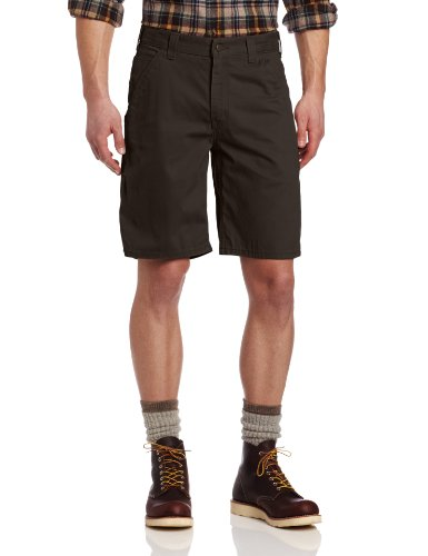 Carhartt Men's Washed Twill Dungaree Short Relaxed Fit,Dark Coffee,36 ()