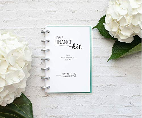 Home Finance Kit for the Mini Happy Planner, Fits 7-Disc Notebook, One Year Supply, 4.26''x7'' (Planner Not Included) by Natalie Rebecca Design