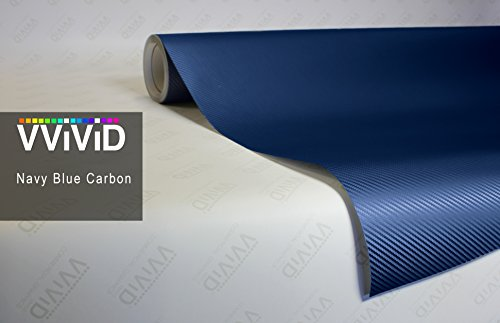 VViViD XPO Blue Carbon Fiber 5ft x 3ft Car Wrap Vinyl Roll with Air Release Technology
