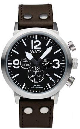 8bfe1c0c84fb Watx Vertical Speed Reloj para Hombre Analógico de Cuarzo con Brazalete de  Piel de Vaca RWA0220  Amazon.es  Relojes