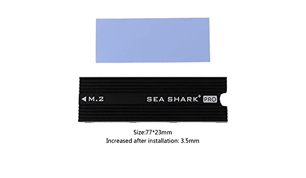 MANGKE NVME NGFF M.2 U.2 Aluminum Sheet Heat Sink Silicone Wafer Cooler Heatsink Heat Dissipation Thermal Conductivity