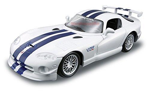 Maisto 1:18 Scale Diecast Model Dodge Viper GT2 - Yellow