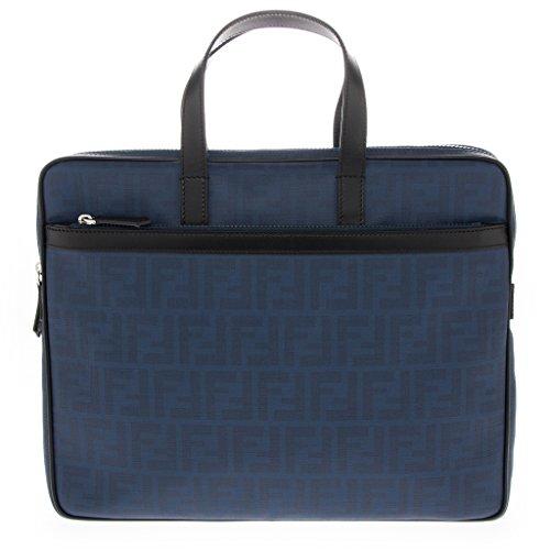 Fendi-Mens-Zucca-Slim-Briefcase-Cobalt