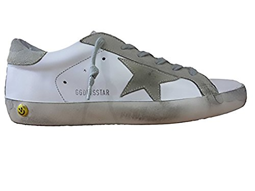GOLDEN GOOSE DELUXE BRAND SNEAKERS SUPERSTAR WHITE LEATHER BIANCO A1